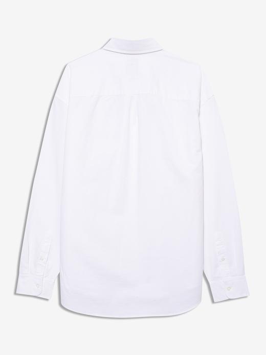 Erkek Beyaz Oversize Oxford Gömlek