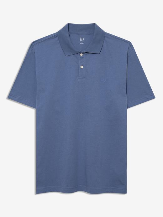 Erkek Mavi Kısa Kollu Polo Yaka T-Shirt
