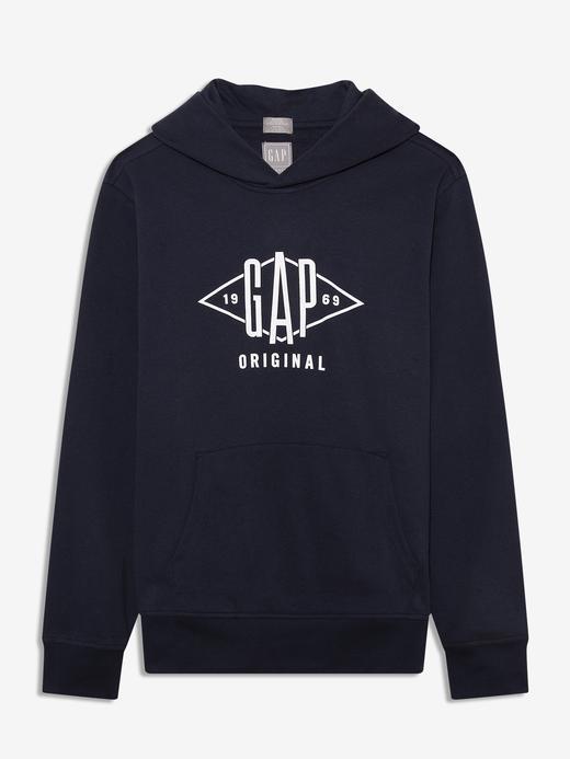Erkek Lacivert Gap Logo Kapüşonlu Sweatshirt