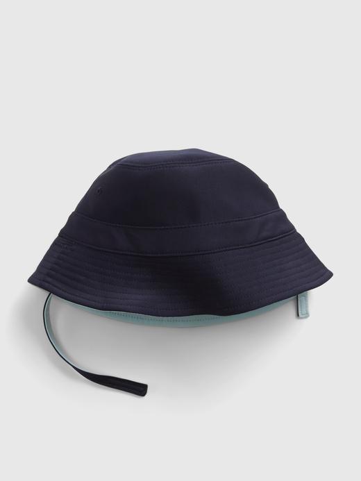 Erkek Bebek Mavi Çift Taraflı Bucket Şapka