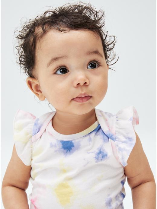 Kız Bebek Çok Renkli Organik Pamuklu Tie-Dye Body