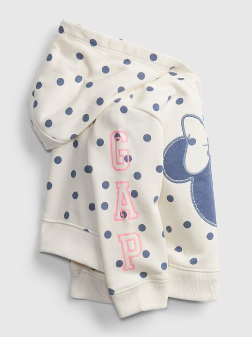 Kız Bebek Beyaz Disney Minnie Mouse Kapüşonlu Sweatshirt