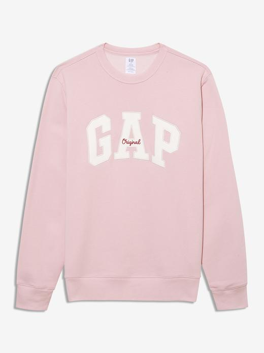 Erkek Pembe Gap Logo Yuvarlak Yaka Sweatshirt