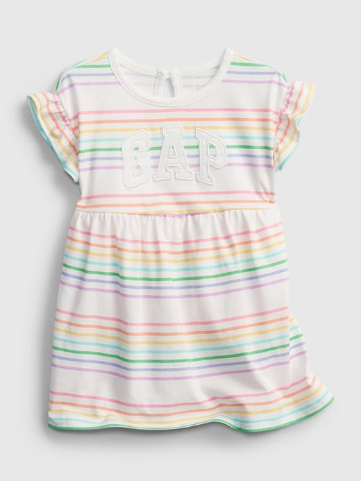 Kız Bebek Çok renkli Gap Logo Çizgili Elbise