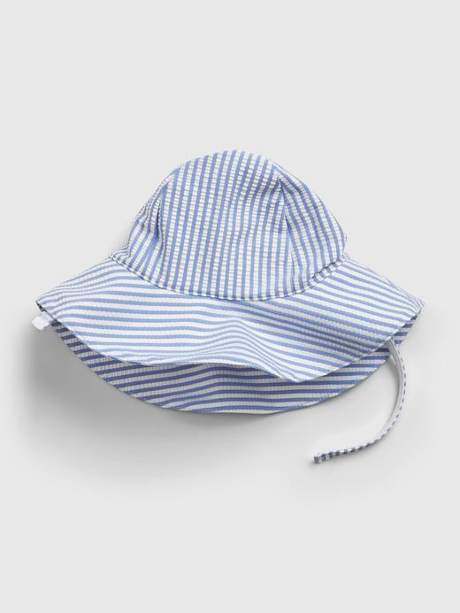 Kız Bebek Mavi Çizgili Şapka
