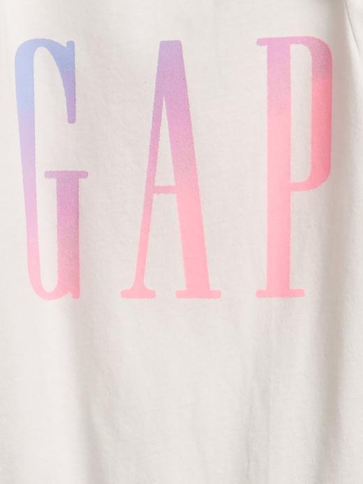 Kız Bebek Beyaz Gap Logo Kısa Kollu Body