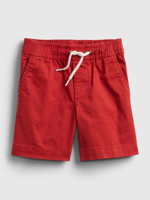 Erkek Bebek Kırmızı Poplin Pull-On Şort