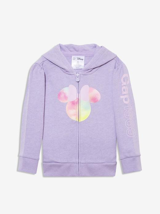 Kız Bebek Mor Gap Logo Minnie Mouse Sweatshirt