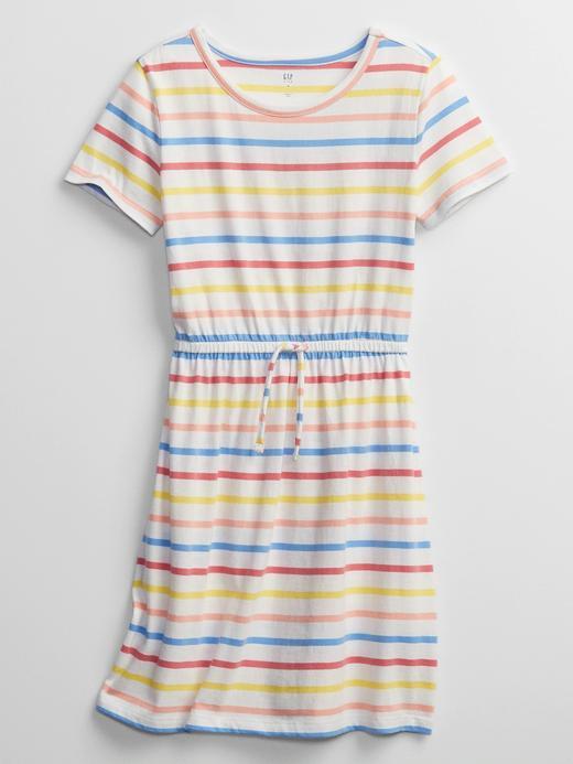 Kız Çocuk Çok Renkli Kısa Kollu Elbise