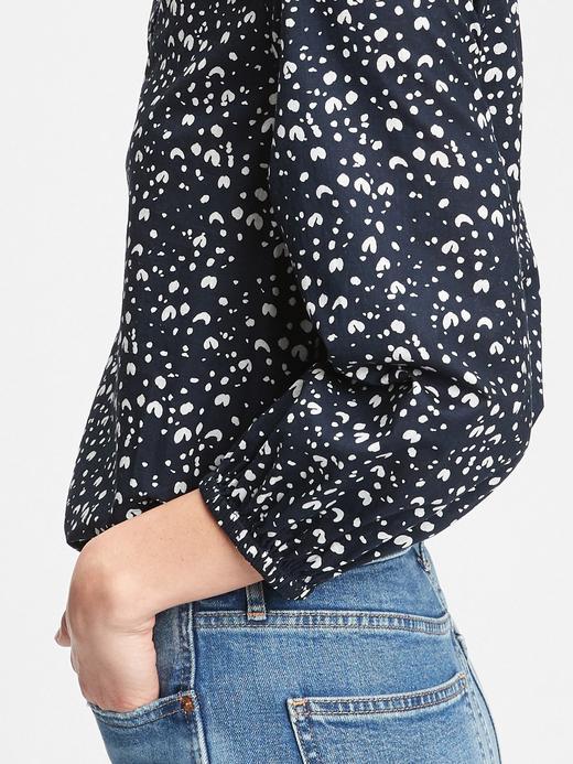 Kadın Pembe Desenli Bluz