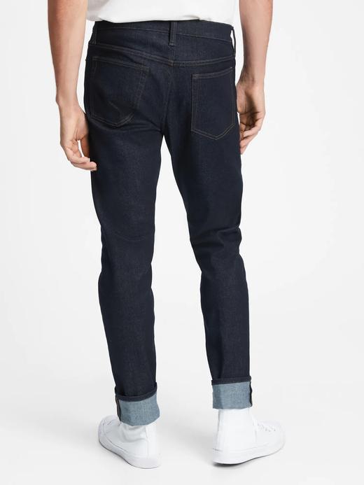 Erkek Lacivert GapFlex Slim Taper Jean Pantolon