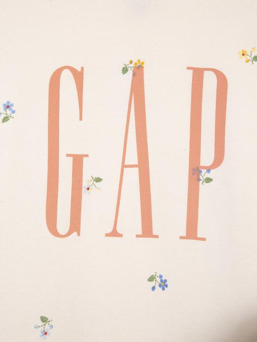 Kadın Bej Gap Logo Yuvarlak Yaka Sweatshirt