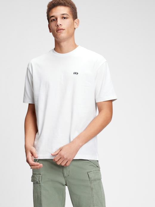 Erkek Kahverengi Gap Logo Kısa Kollu T-shirt