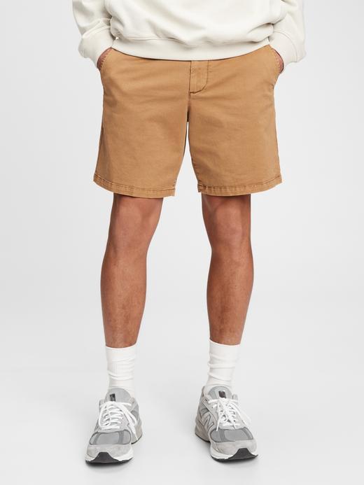 Erkek Kahverengi 8 Inç Vintage Şort