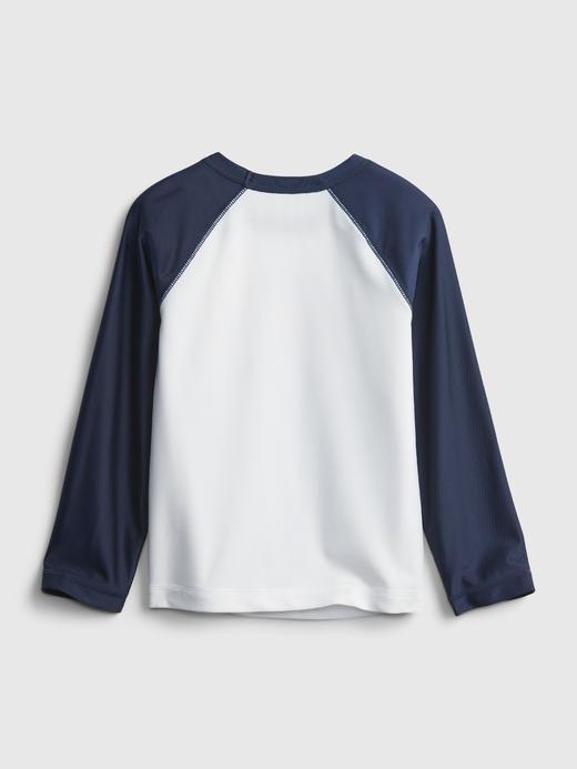Erkek Bebek Mavi Uzun Kollu Grafik Tshirt