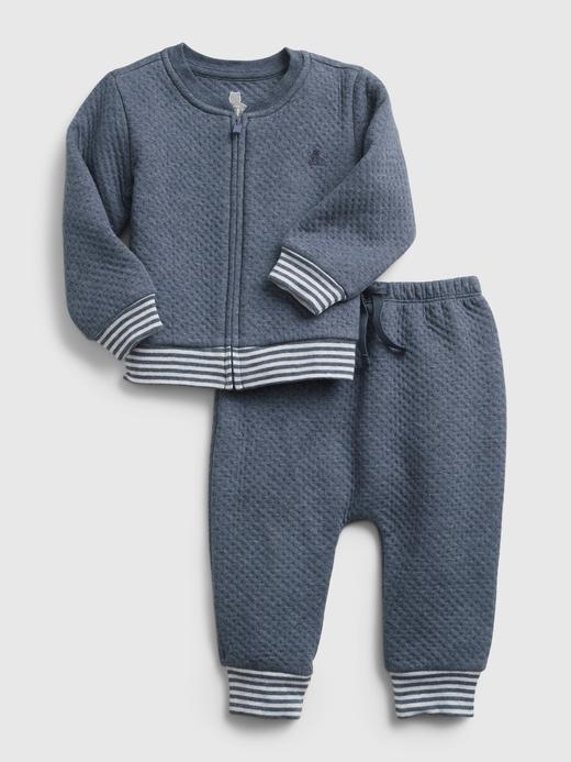 Erkek Bebek Mavi Eşofman Takımı Seti