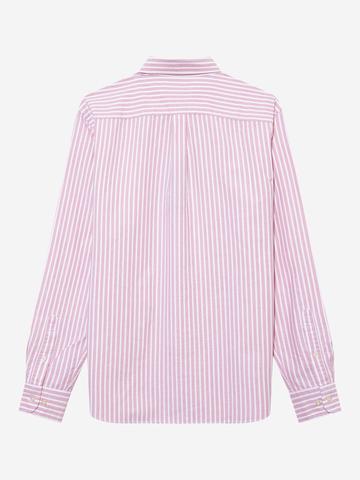 Erkek Pembe Untucked Oxford Gömlek