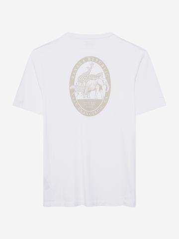 Erkek Beyaz Yuvarlak Yaka T-Shirt