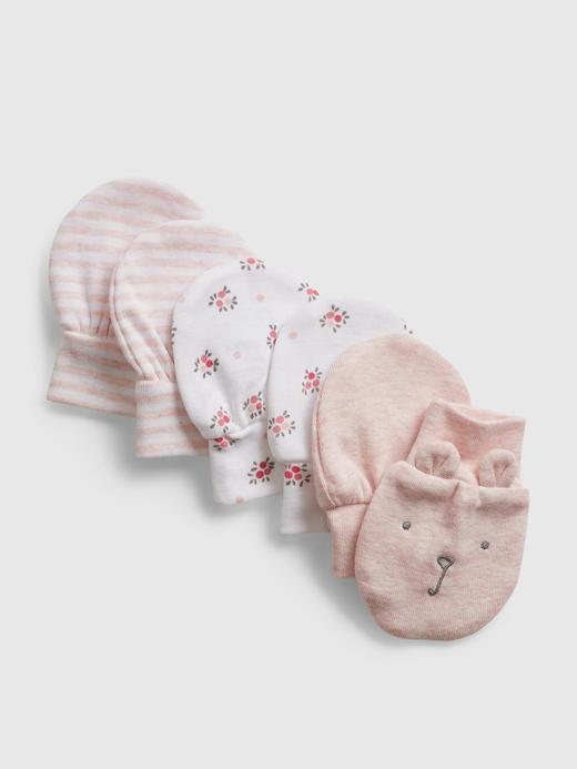 Erkek Bebek Pembe 3'lü Eldiven Seti