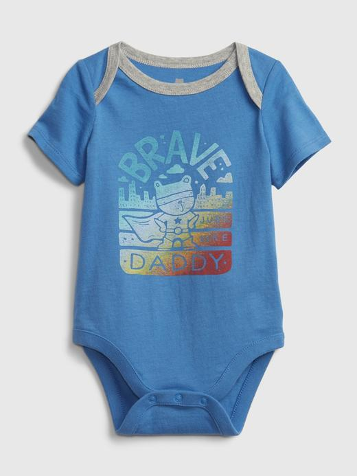 Erkek Bebek Mavi Organik Pamuklu  Body