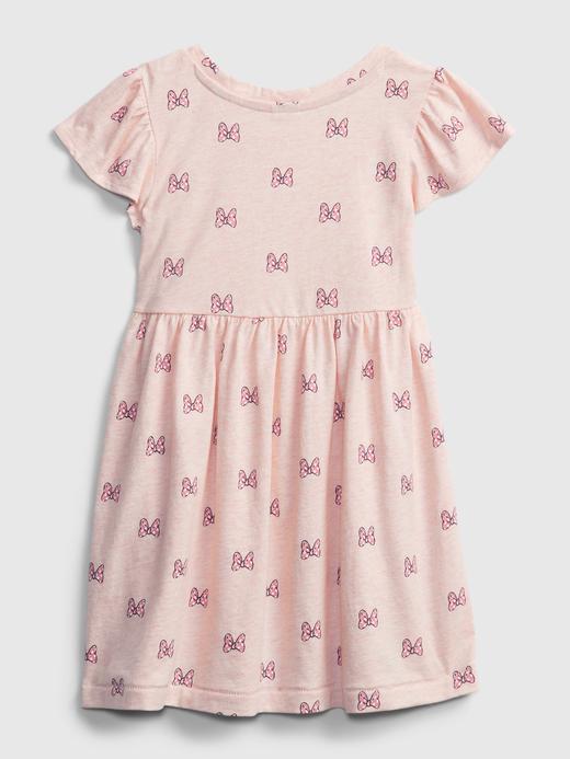 Kız Bebek Pembe Disney Minnie Mouse  Desenli Elbise