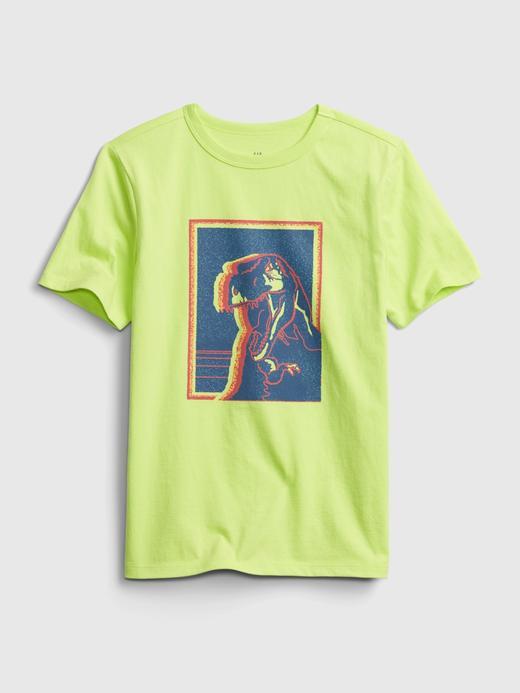 Erkek Çocuk Yeşil Kısa Kollu Grafik T-Shirt
