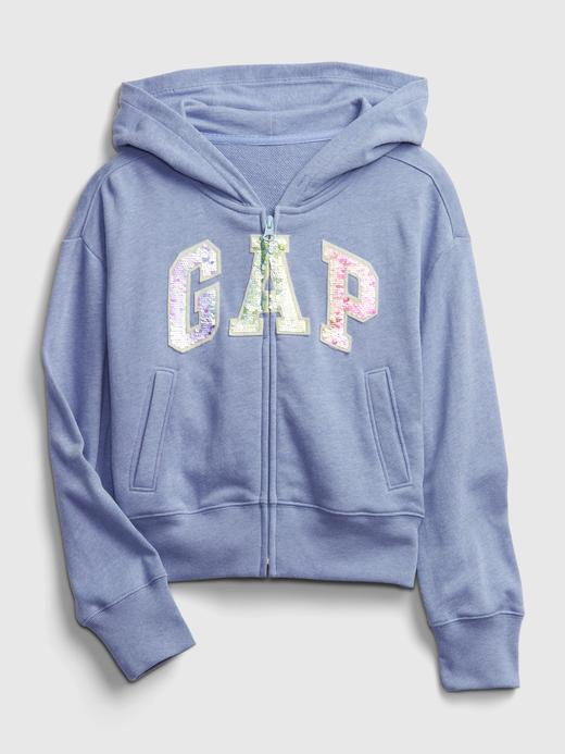 Kız Çocuk LIGHT BLUE HEATHER Gap Logo Kapüşonlu Sweatshirt