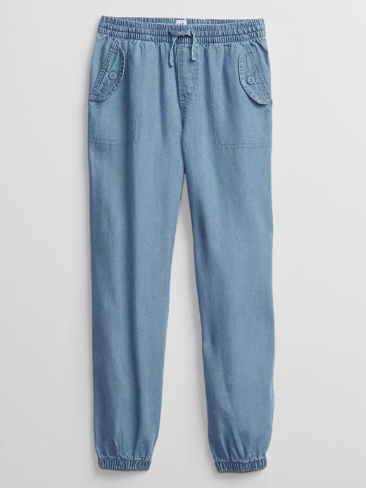 Kız Çocuk Mavi Pull-On Jogger Pantolon