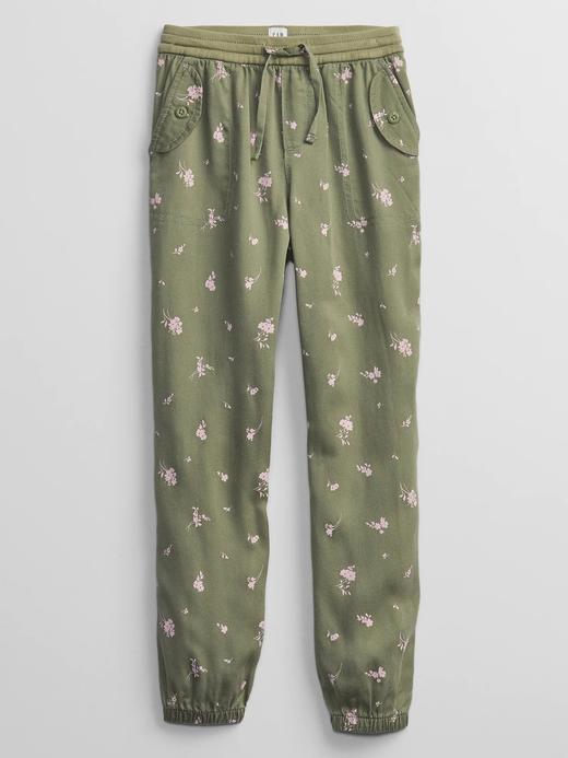 Kız Çocuk Yeşil Pull-On Jogger Pantolon