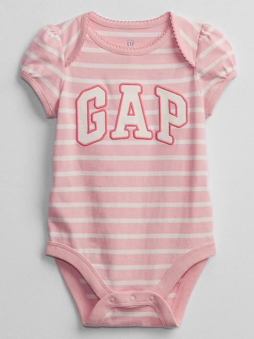 Kız Bebek Pembe Gap Logo Kısa Kollu Body