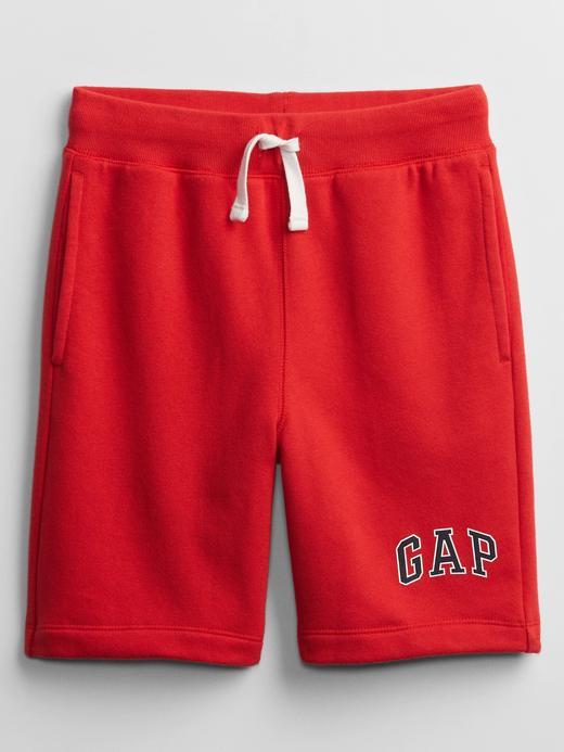 Erkek Çocuk Kırmızı Gap Logo Pull-On Şort