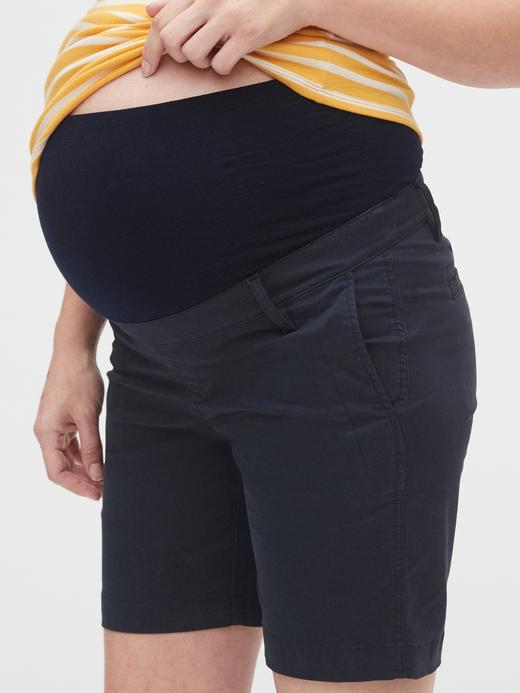 Yeşil Maternity Streç Khaki Şort