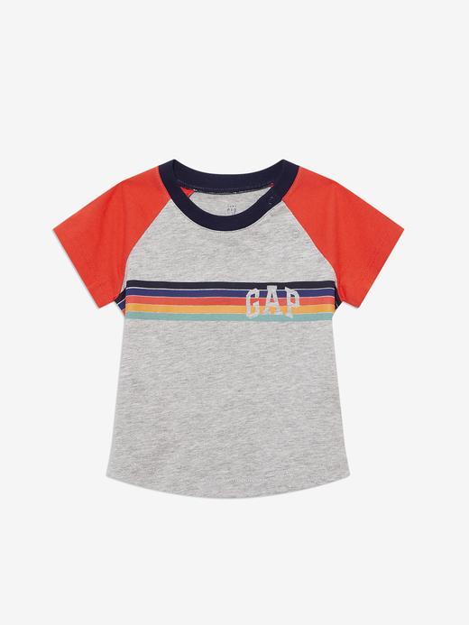 Erkek Bebek Gri Gap Logo Kısa Kollu T-Shirt