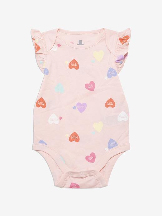 Kız Bebek Pembe Fırfır Detaylı Body