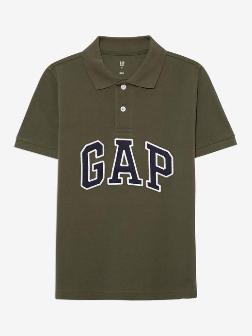 Erkek Çocuk Yeşil Gap Logo Polo Yaka T-Shirt