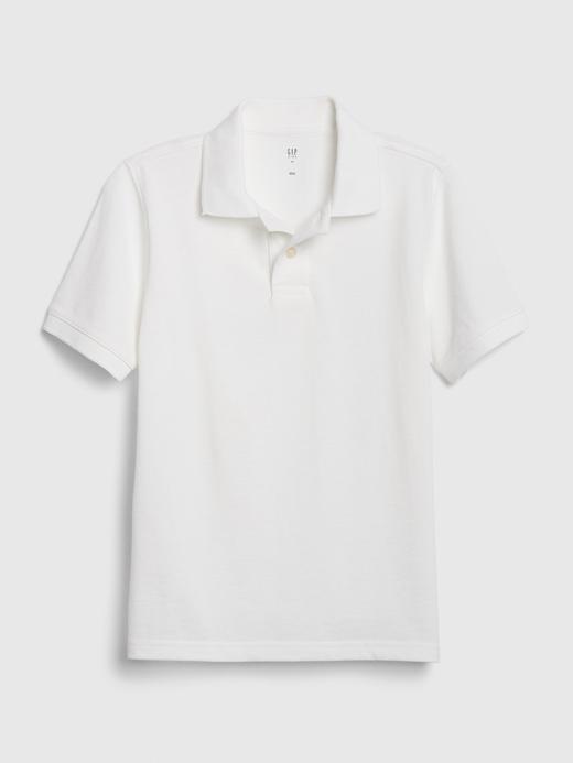 Erkek Çocuk Beyaz Polo Yaka T-Shirt