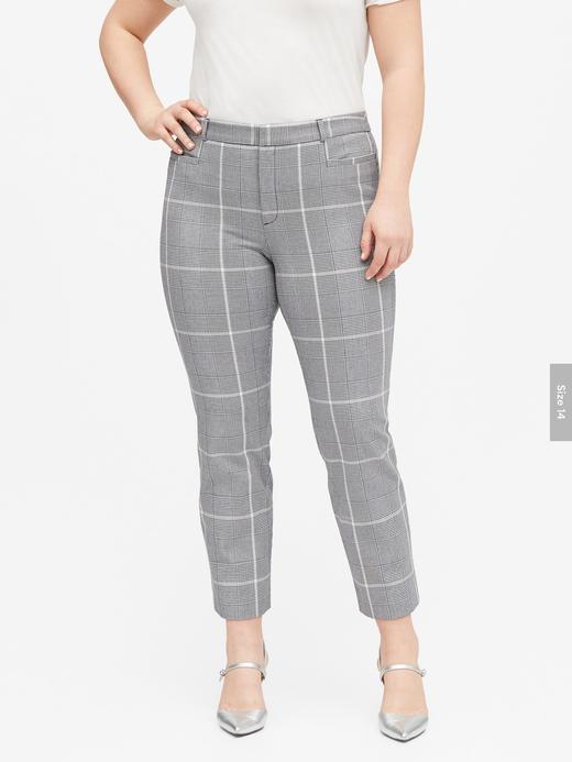 Kadın Gri Modern Sloan Skinny-Fit Yıkanabilir Pantolon