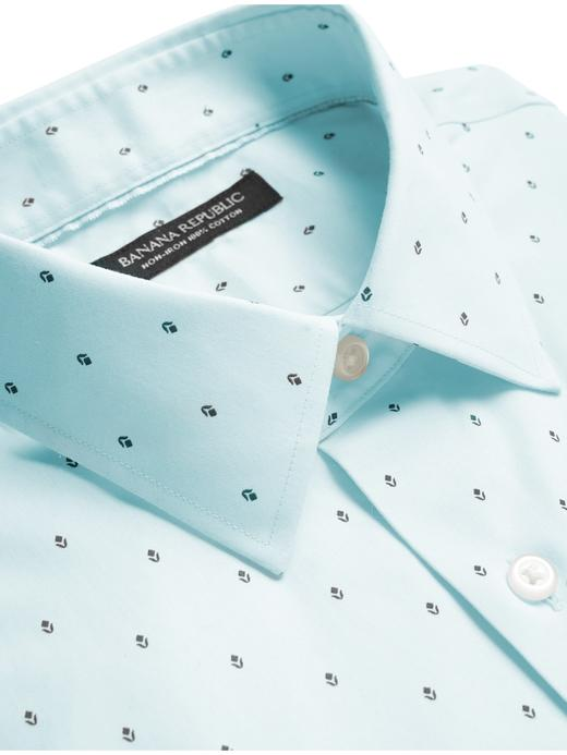 Erkek Pembe Slim-Fit Ütü Gerektirmeyen Gömlek