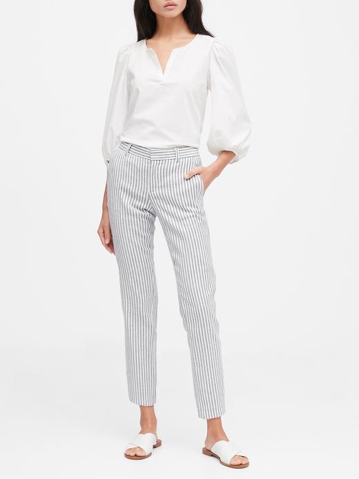 Kadın Beyaz Avery Straight-Fit Pantolon