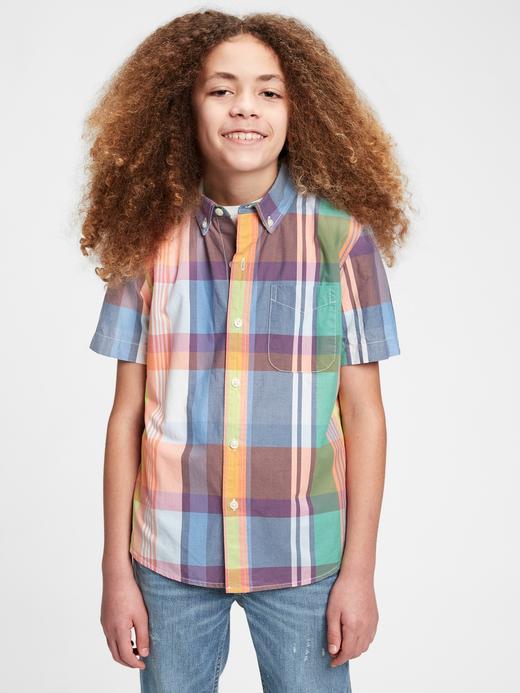 Erkek Çocuk Çok renkli Ekose Gömlek