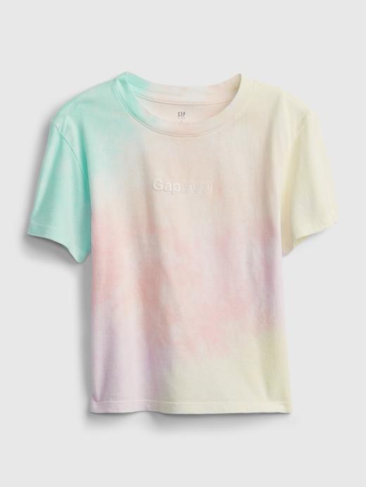 Kız Çocuk Çok Renkli Gap Logo Tie Die T-Shirt