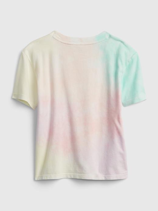 Kız Çocuk Beyaz Gap Logo Tie Die T-Shirt