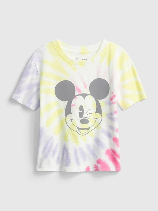 Kız Çocuk Çok Renkli Disney Minnie Mouse Tie-Dye T-Shirt