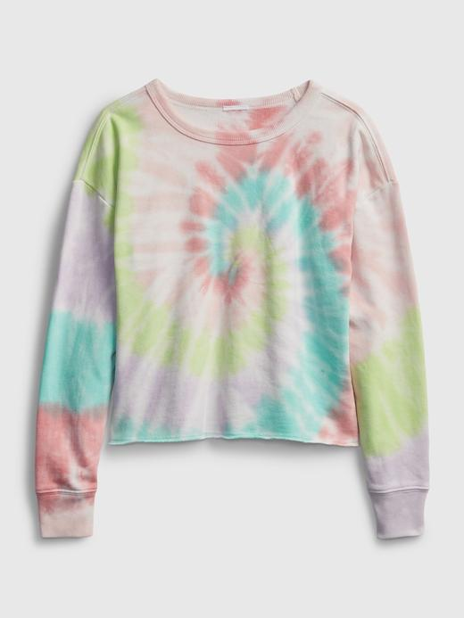 Kız Çocuk Pembe Tie-Dye Sweatshirt