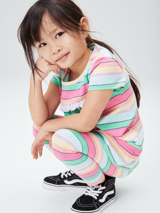 Kız Bebek Çok Renkli Organik Pamuklu T-Shirt