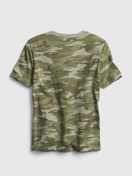 Erkek Çocuk yeşil Cepli T-Shirt
