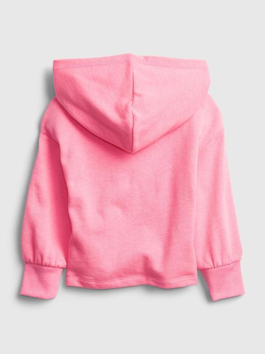 Kız Bebek Mavi Kapüşonlu Grafik Sweatshirt