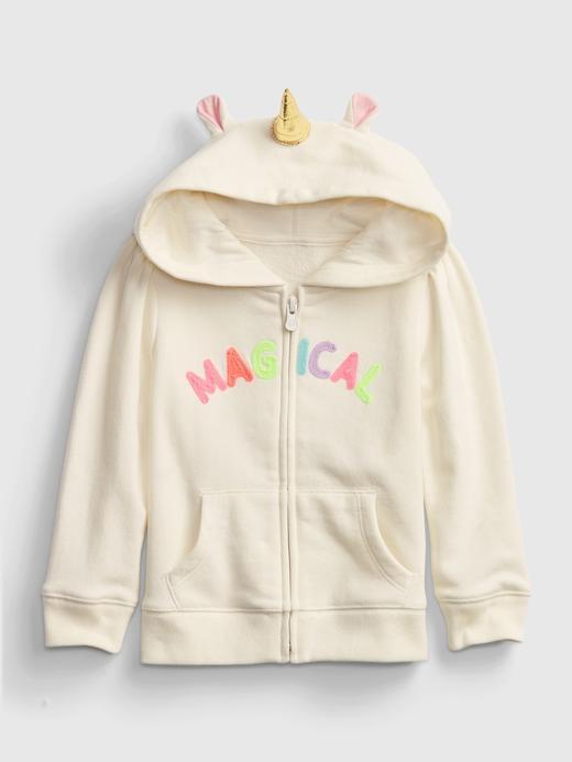 Kız Bebek renkli 3D Baskılı Kapüşonlu Sweatshirt