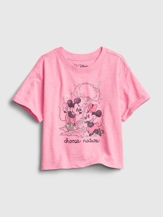 Kız Bebek Pembe Disney Mickey ve Minnie Mouse  T-Shirt