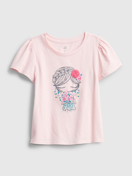 Kız Bebek Pembe Grafik T-Shirt